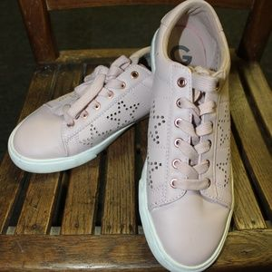 G By Guess Mollie Pink Star Cutout Sneaker